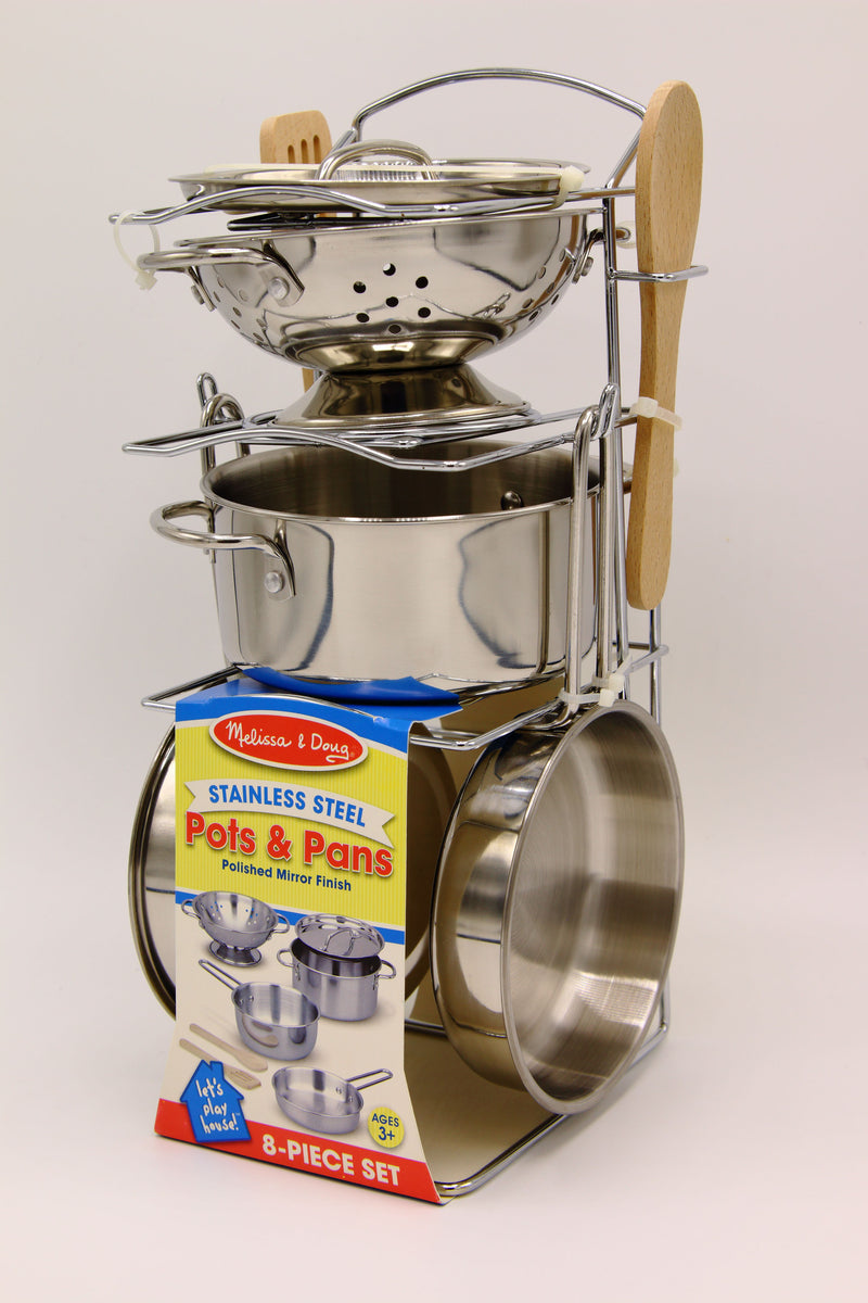Children's Stainless Steel Pots & Pan Set