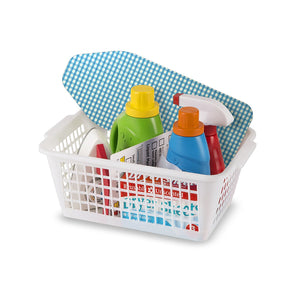 Melissa & Doug Laundry Basket Play Set With Wooden Iron, Ironing Board, and Accessories (14 Pcs)