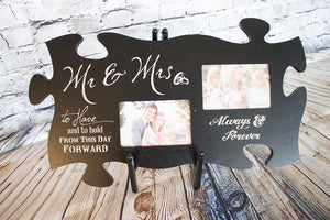 Mr & Mrs Puzzle Picture Frame