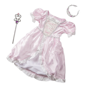 Melissa & Doug Princess Role Play Costume Set (3 pcs)- Pink Gown, Tiara, Wand