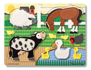 MELISSA & DOUG FARM ANIMALS TOUCH AND LEARN PUZZLE