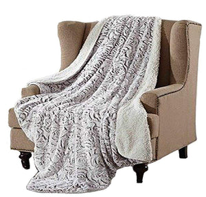 ROSE FAUX REGAL COMFORT THROW BLANKET