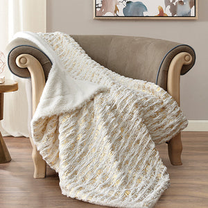 REGAL COMFORT SANDWOOD GOLD THROW BLANKET