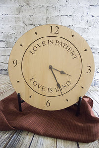 "Clock ""Love is Patient"""