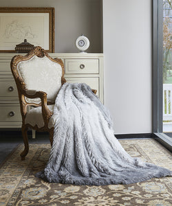 Regal Comfort Grey Ombre Throw Blanket