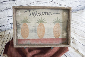Welcome Pineapple Picture/tray