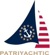 Patriyachtic Sailboat Image Blue Sail Logo