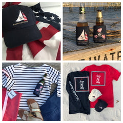 spring break clothing gifts gear patriotic nautical red white and blue