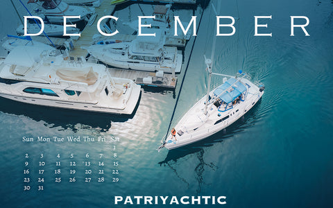 December free wallpaper Patriyachtic sailboat nautical