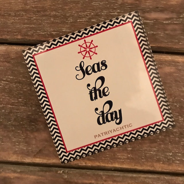 Seas The Day Magnet 3""