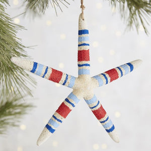 Patriotic Starfish Ornament