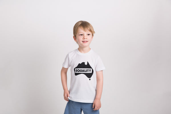 Kids Equality T-Shirt - White/Black