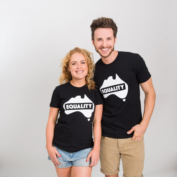 Equality T-Shirt - Black/White