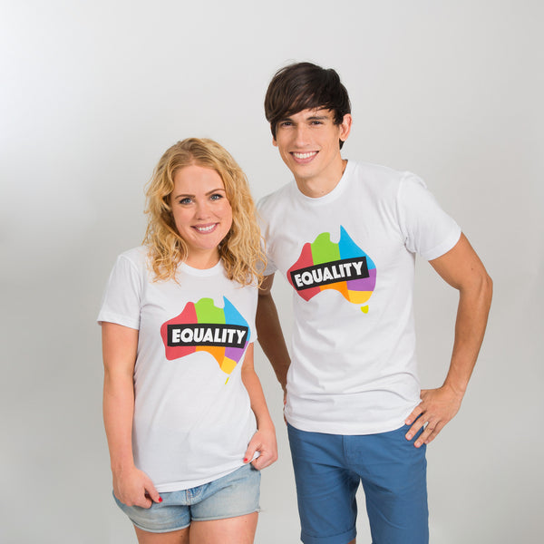 Equality T-Shirt - White/Colour