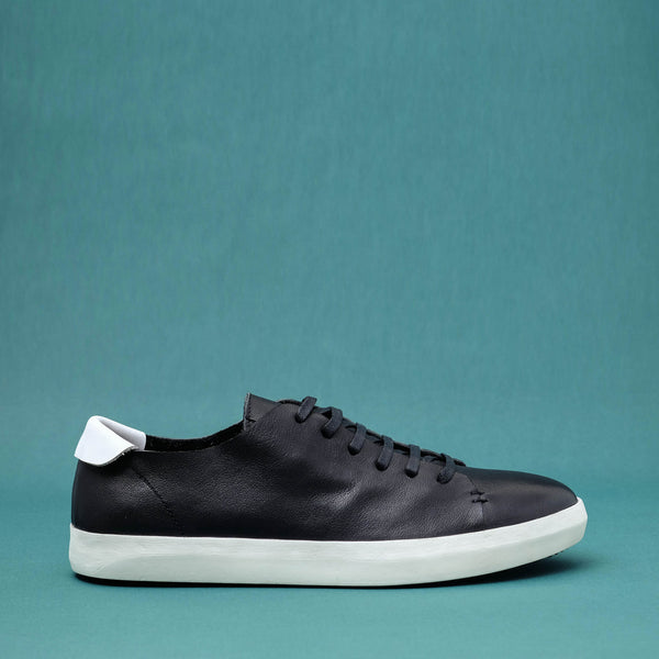 Lera Black Leather Sneakers