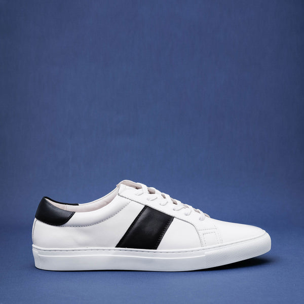 Strimma White Leather Sneakers