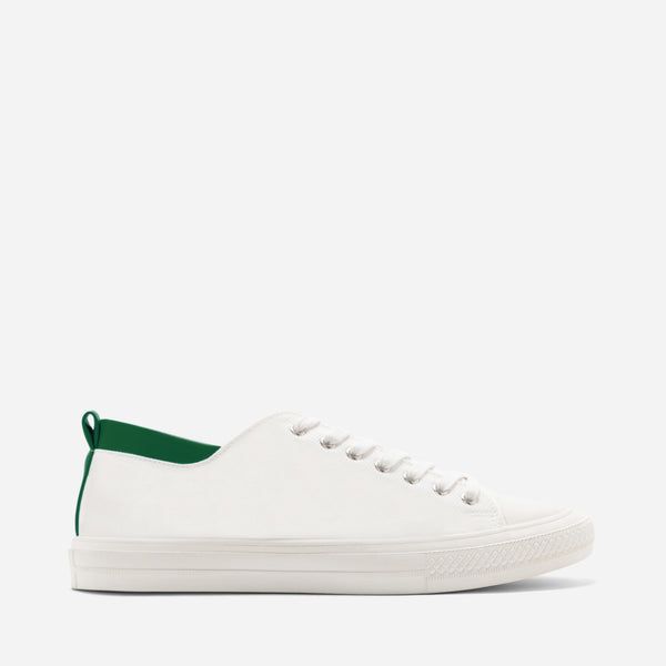 Tyg White/Green Sneakers