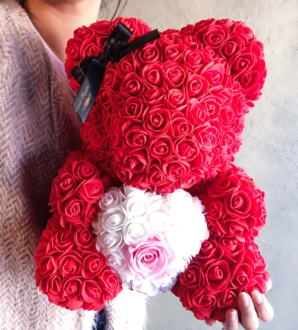 Large Red Heart Bear