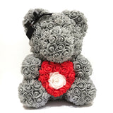 Large Grey Heart Bear