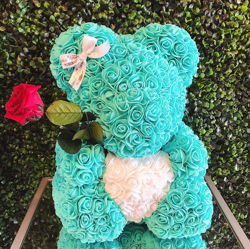 Large Soft Tiffany Blue Heart Bear