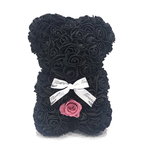 Black and Pink Baby Bear
