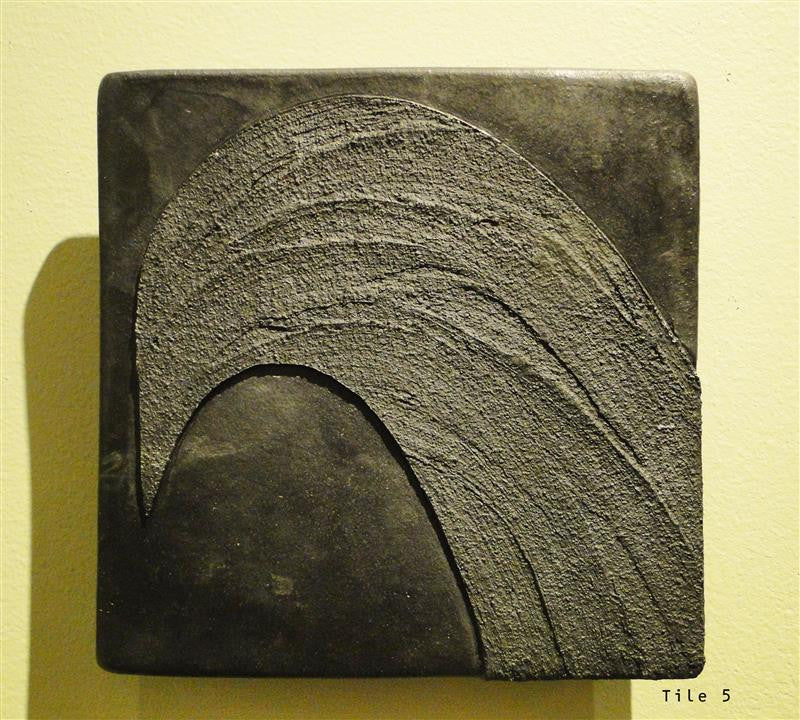 """Birdleaf"" Cone Smoked & Fired Clay Tiles"