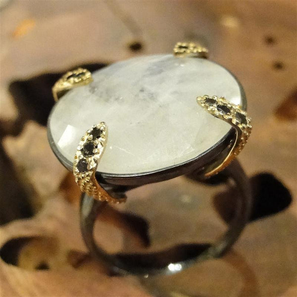 Noir Moonstone Cocktail Ring