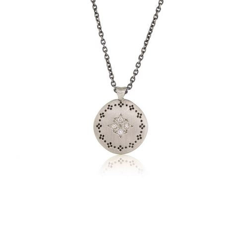 Memories Four Starburst Diamond and Sterling Silver Pendant Necklace