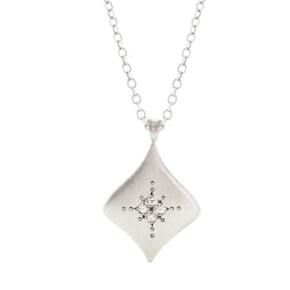 Pulsar Diamond Sterling Silver Pendant Necklace