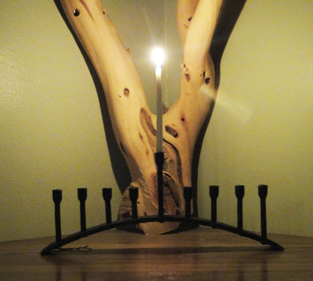 Wrought Iron Arch Menorah