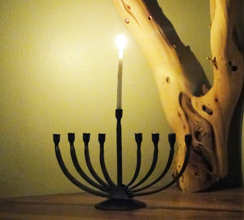 Wrought Iron Curve Menorah