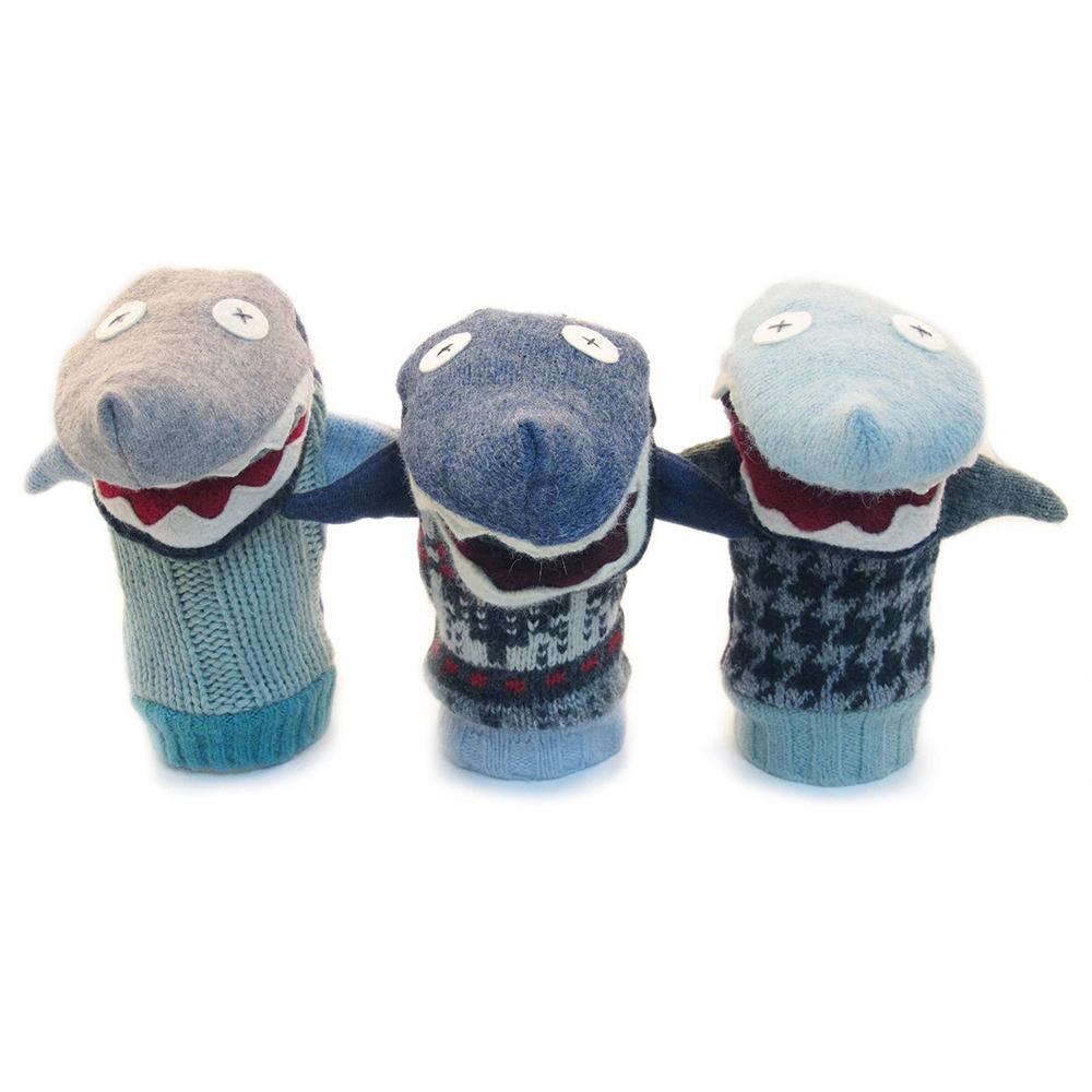 Recycled Wool Shark Puppet