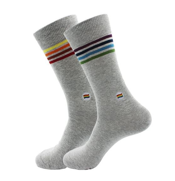 Grey Rainbow Socks That Save LGBTQ Lives