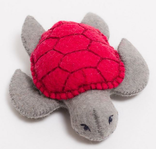 Fair Trade Wool Felt Sea Turtle Ornament