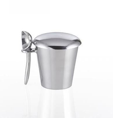 Polished Aluminum Ice Cream Bucket