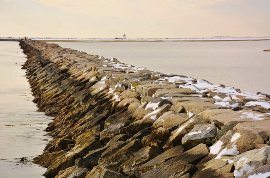 Breakwater In Winter by Dan McKeon