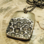 """Craters"" Oxidized Sterling Silver Necklace"