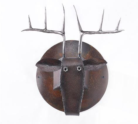 Deer Head Made of Recycled Farm Tools