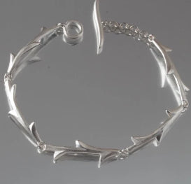 Brushed Sterling Silver Thorn Bracelet
