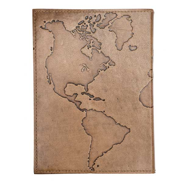 """Miles To Go"" Cruelty Free Fair Trade Leather Journal"