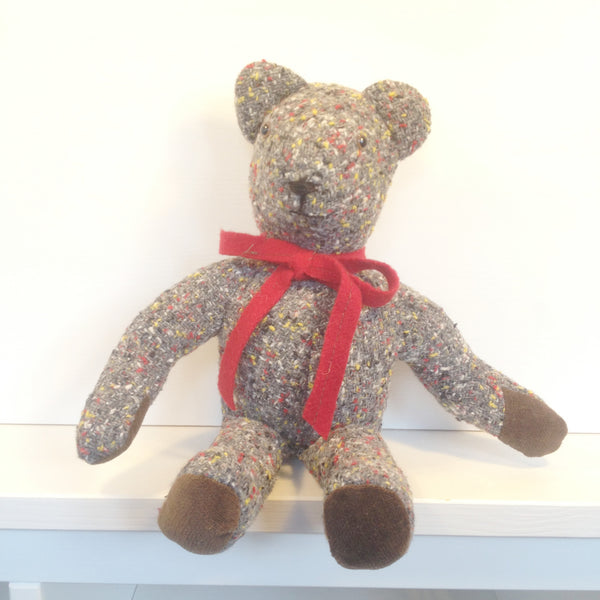 Handmade Recycled Suiting Bear