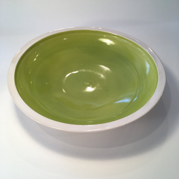 Ceramic Caldera Bowl in Apple Green