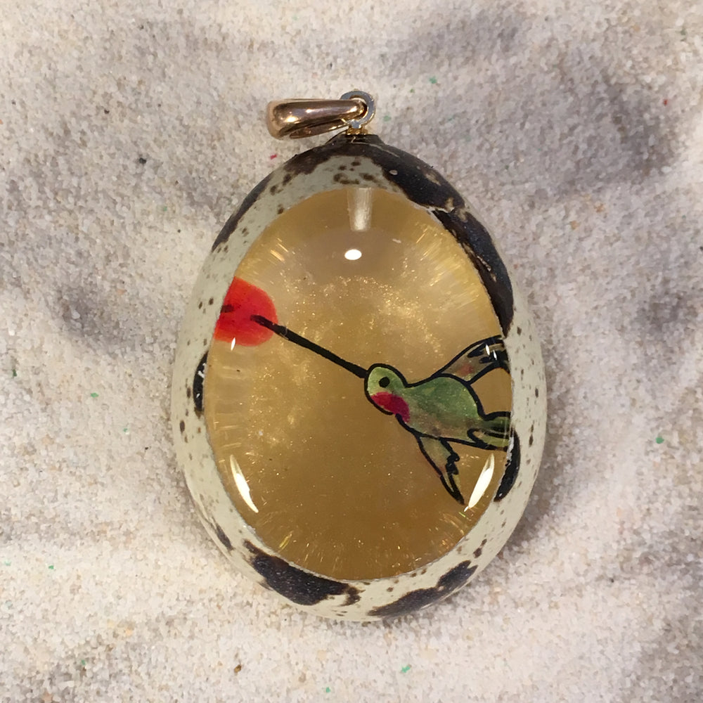Hummingbird Quail Egg Ornament