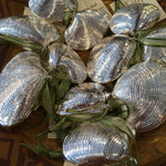Silver Double Clam Shell Ornament