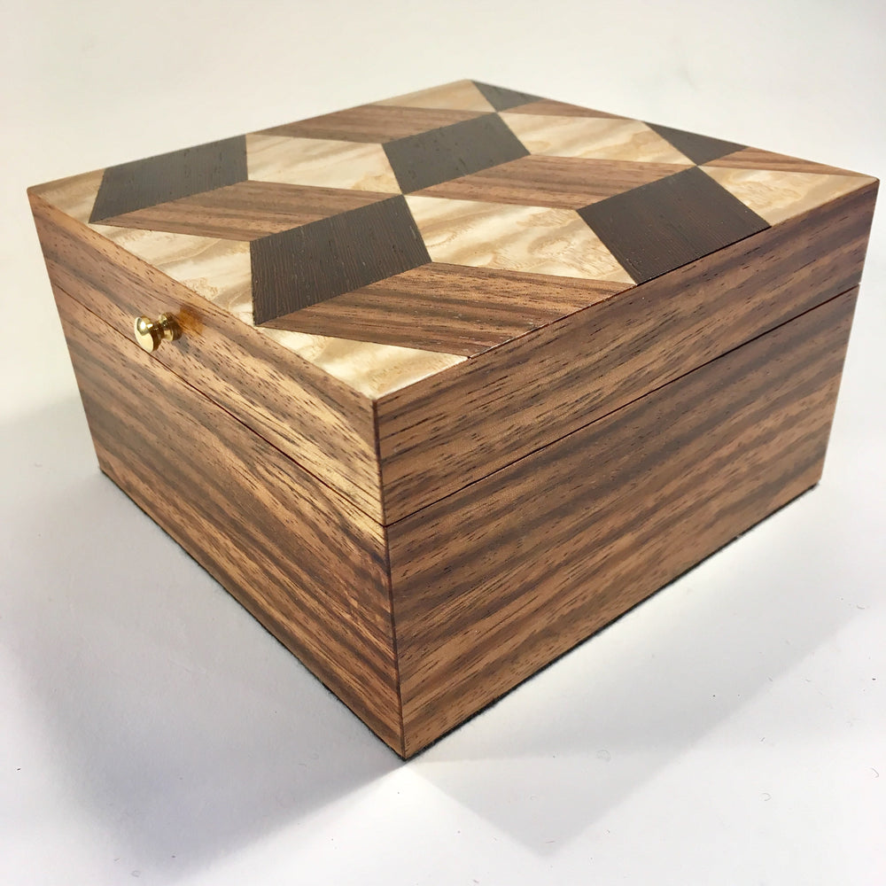 Tumbling Blocks Keepsake Box