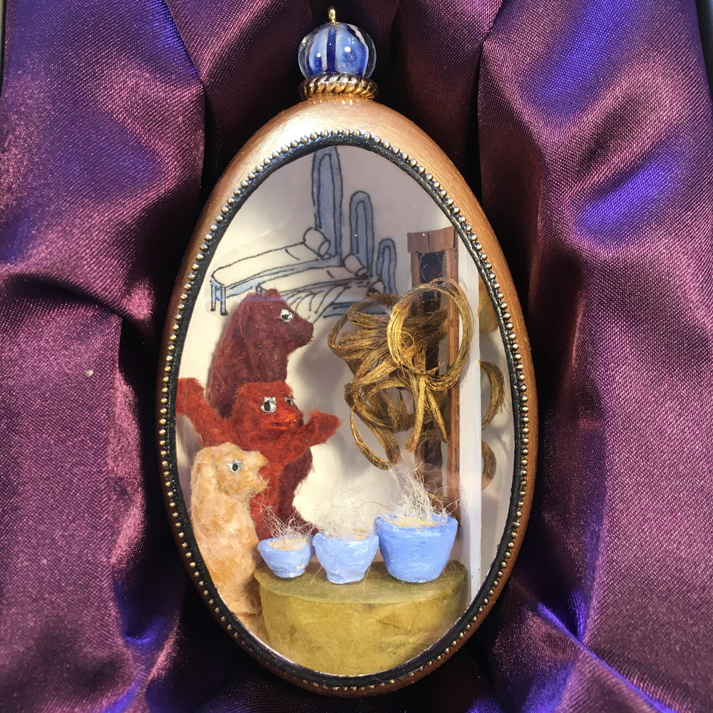 Goldilocks and the Three Bears Goose Egg Ornament