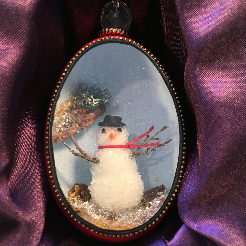 Mr. Snowman Duck Egg Ornament