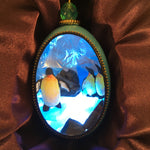 Penguin Duck Egg Ornament with LED Light