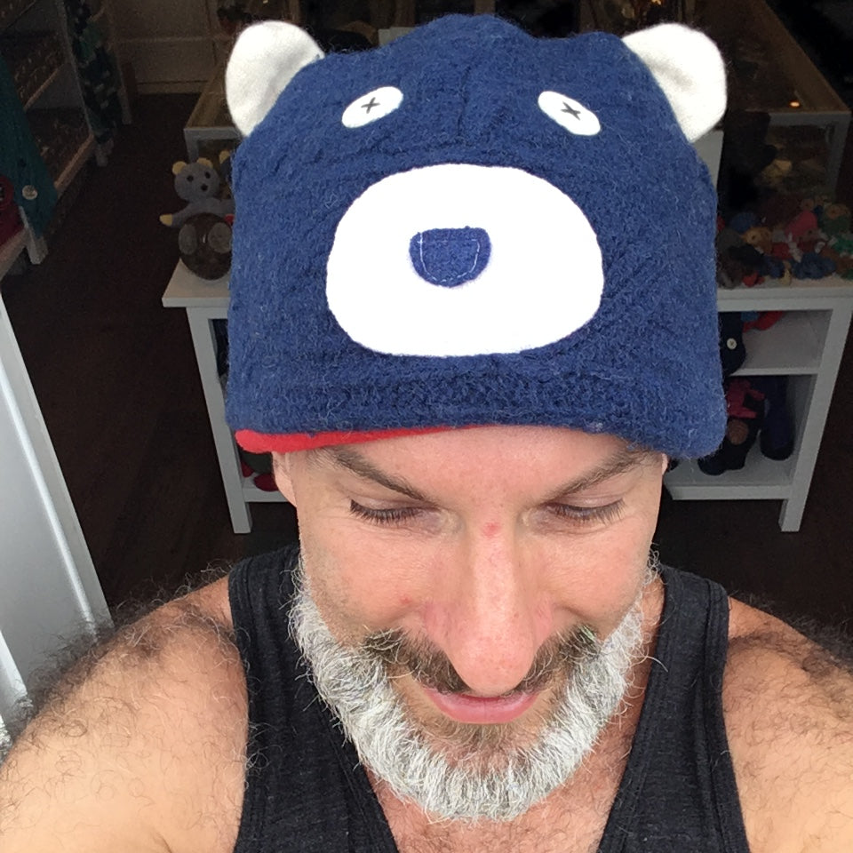 Upcycled Sweater Bear Hat