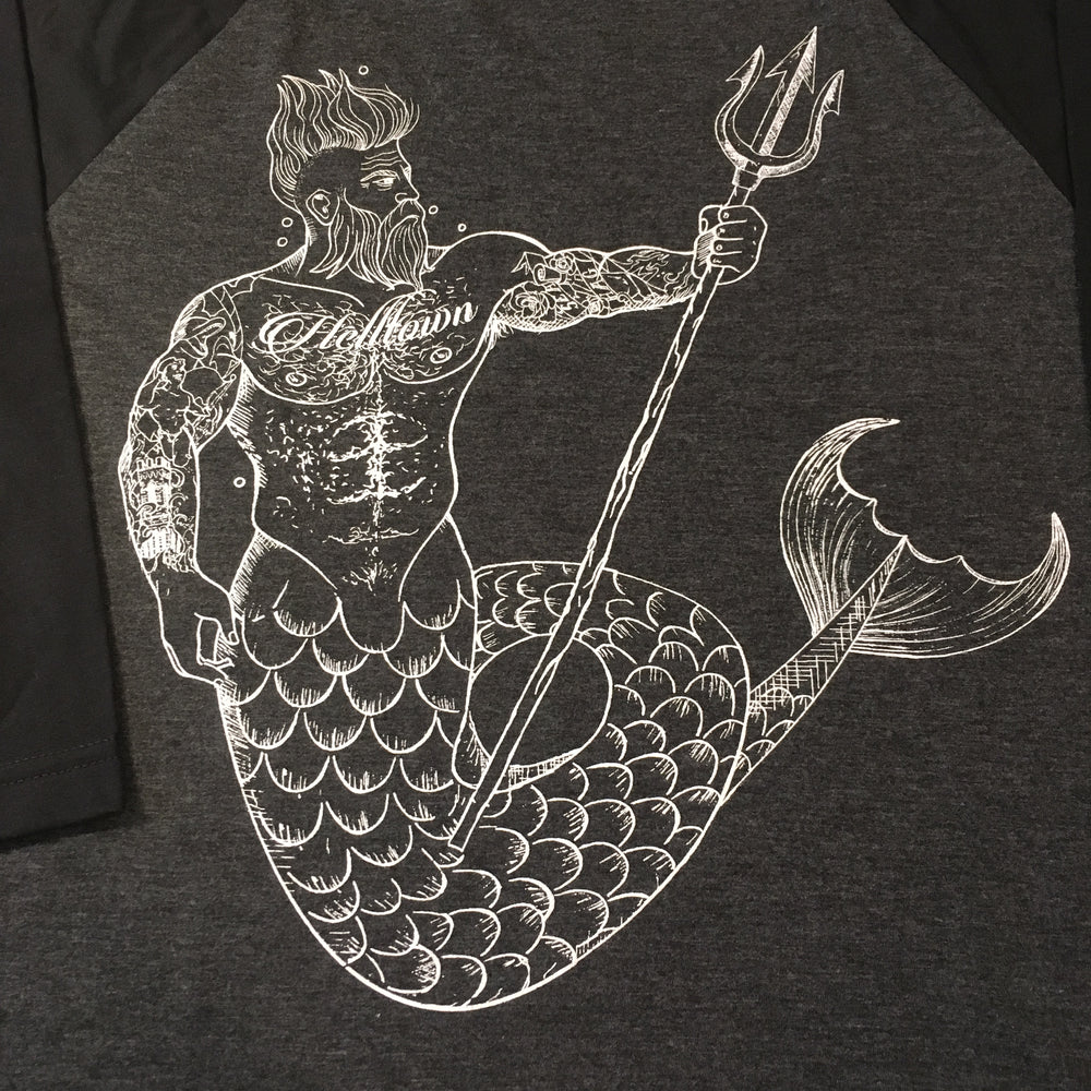 Helltown Merman Baseball Shirt
